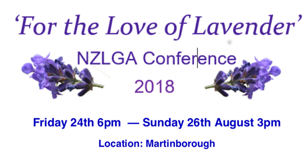 For the love of lavender NZLGA Conference