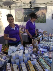 Little Willow Lavender - Sharon's stall at Currabubula Market